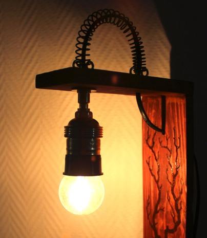 Lampe décorative - détail motif éclairé
