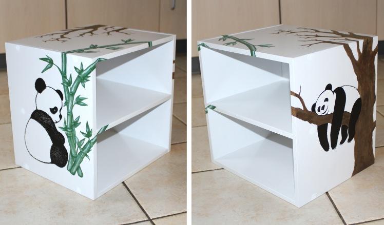 meuble décoré pandas