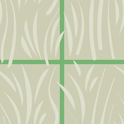 Motif herbe beige à carreaux verts